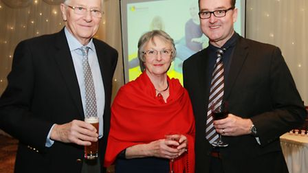 Bill and Irene Lancaster with the Head of Regional Fundraising for Brainwave, Richard Clarke