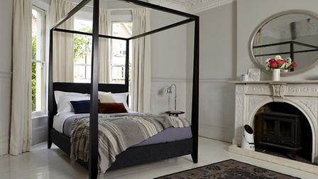 Four-poster bed from Sofas & Stuff