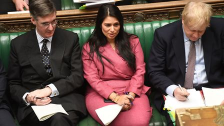 Home Secretary Priti Patel during Prime Minister's Questions in the House of Commons. Photograph: UK
