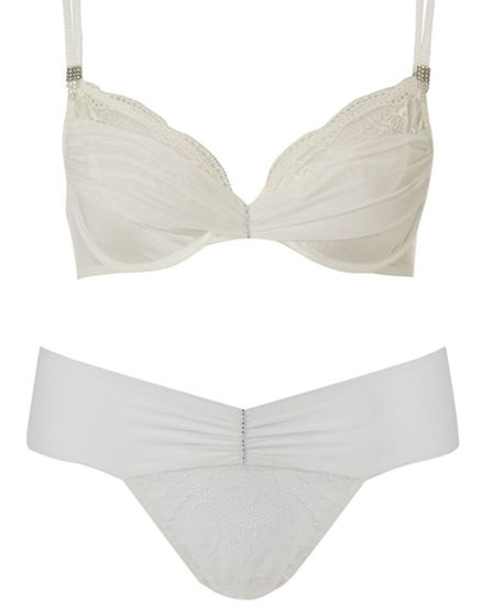 CLEAR AS… …Crystal Cercle bra and mini string, £100 from the Maison Lejaby range at House of Fraser