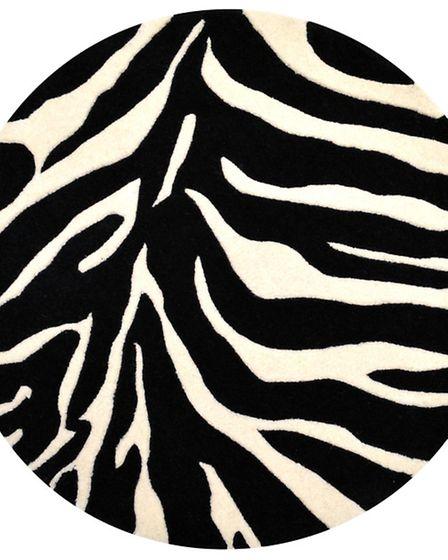 Animal magic Dont even contemplate going monochrome without a zebra stripe rug. Ogler Rug £122.98