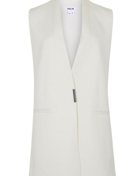This Helmut Newton Erosion sleeveless jacket will instantly smarten up and shirt/trouser combo, £345