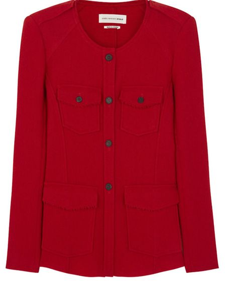 Red is the colour of power, so wear it to the boardroom. Isabel Marant Etoile jacket, £265, Harvey N