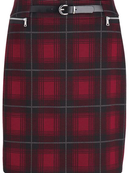 Red and Black Plaid Jacket, £170, skirt, £85, Gerry Weber