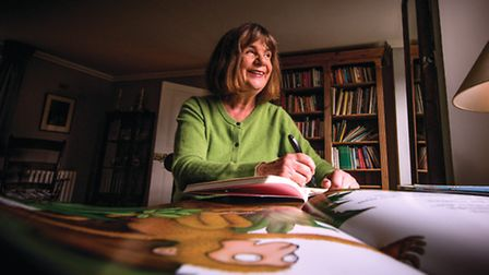 Author Julia Donaldson at her Steyning home - photo by Jim Holden