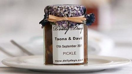 Homemade pickles, chutneys and jams with bespoke labels, £2.75 each, Doily Days, Chichester 01243 68