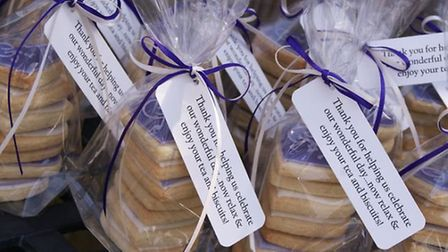 Biscuit Favours, price varies depending on numbers, Elegant Stationery, Wivelsfield, 01903 866589; w