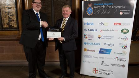 Steve Westgarth and Neville Chamberlain, Chair of Cheshire Business Leaders at the 2014 High Sheriff
