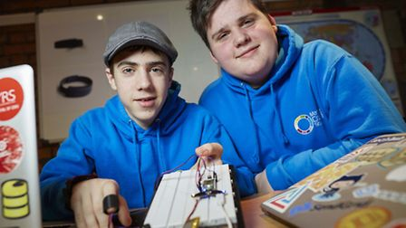 Tec geniuses Ryan Oliver and Jonathan Kingsley from Macclesfield in Cheshire. The have invented The