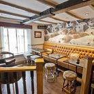 The interior of the Fox and Hounds, Sproston, Cheshire