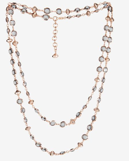 SEEING DOUBLE Why have one strand of dainty crystals when you can have two? This Gemari necklace, £