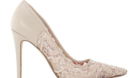 GOOD NUDES This Buffie nude stiletto with lace detailing, £79 from Dune, certainly doesnt suck (yes