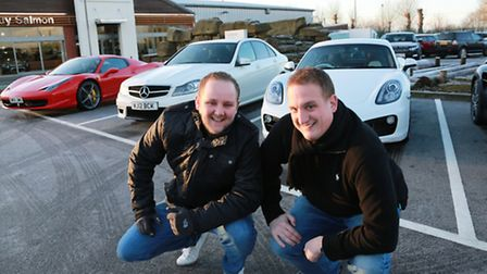 Liam Vickers and his Mercedes 'C' AMG and Max Frederick from Warrington with his Porsche Cayman 'S'