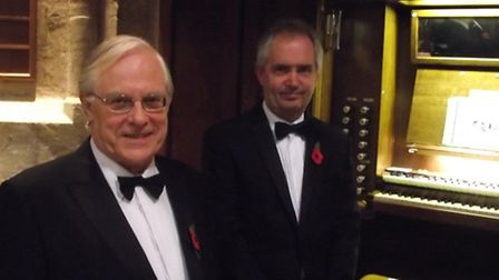 Conductor John Read with organist Robin Baggs