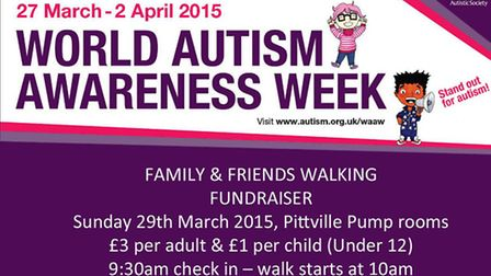 The walk has been planned to coincide with World Autism Awareness Week