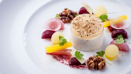 Windrush goats' curd mousse at Lower Slaughter Manor