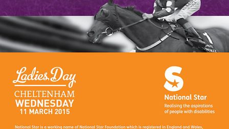 Book your place: National Star College Cheltenham Festival Ladies Day Hospitality Event