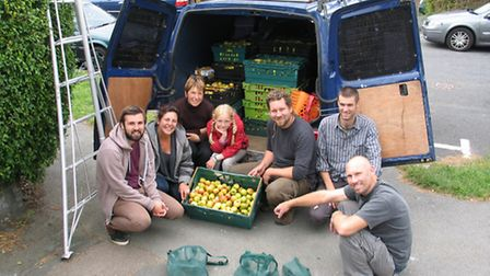 A van full of apples that would have gone to waste