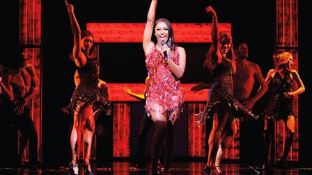 Alexandra Burke in The Bodyguard (Photograph of West End production) - Photo by Paul Coltas