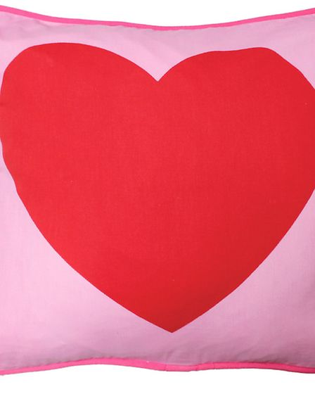 Put your heart into it Theres no escaping the message this gorgeous 100% organic cotton cushion sen