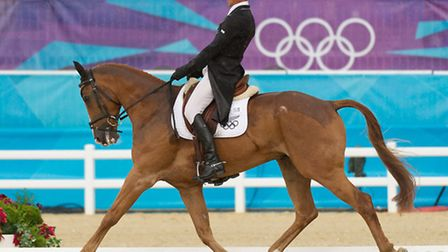 Andrew riding Nereo in the dressage phase at the London Olympics