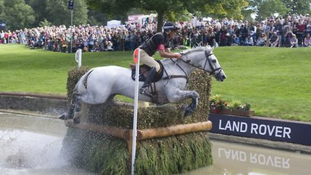 Andrew on his way to victory at Burghley in 2013 riding Avebury