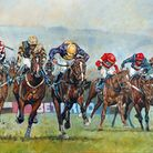 'From the Last to the Line, 2014 Cheltenham Gold Cup', featuring The Giant Bolster, centre, by David