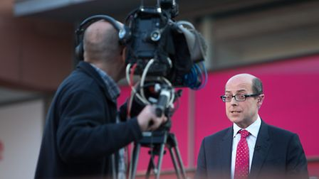 Nick Robinson at the Labour party conference Photo by Mark Thomas/REX