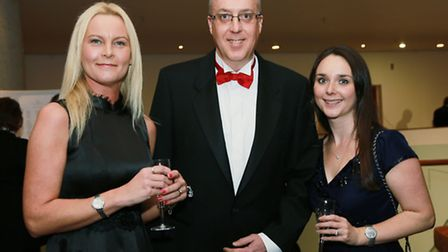 Chairman of the Trustees, Sam Hough, with Executive Head, Dave Calvert and Ball organiser Kate Park