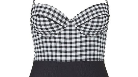 Topshop Gingham Swimsuit