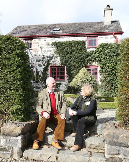 Anthony Tavernor and Kay Laurie at Plas Cadnant Hidden Gardens