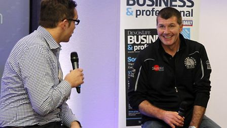 Chris Bentley interviews Exeter Chiefs head coach Rob Baxter