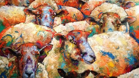 Mic Chambers - ''Sheep Madness' Oils on Canvas £4000 100x100