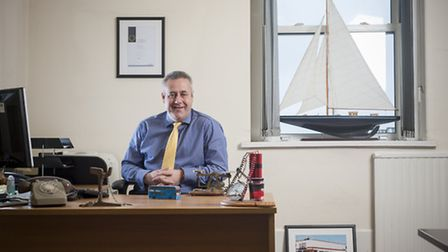 Richard Stevens, 47, Managing Director of Plymouth Citybus, in his office