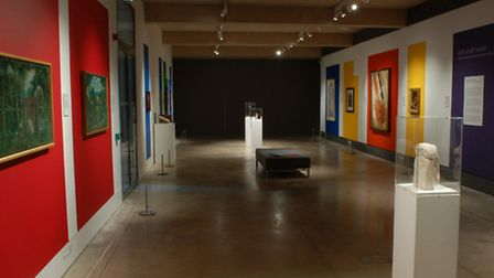 The first room of the 'still small voice' exhibition