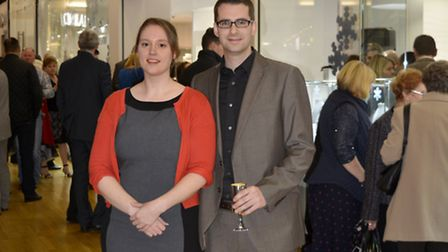 Andrea and Dan at the opening of the new Drakes store, designed by Crayon Architects