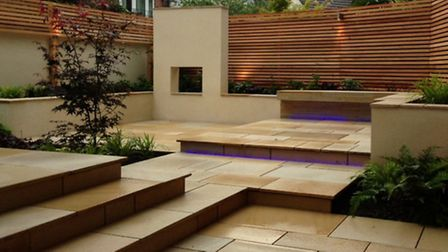 A Louise Harrison-Holland's hard landscaping garden design