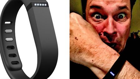 Dom Joly with his 'nightmarish' Fitbit