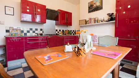 The colourful kitchen