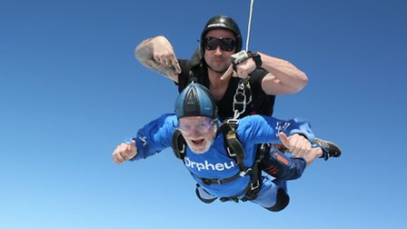 """Skydiving last year proved a """"brilliant thrill"""""""