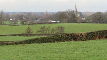 View back towards Astbury from the Macclesfield Canal