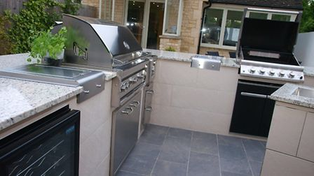 Most of the practical units commonly found within indoor kitchens can be installed outdoors too!