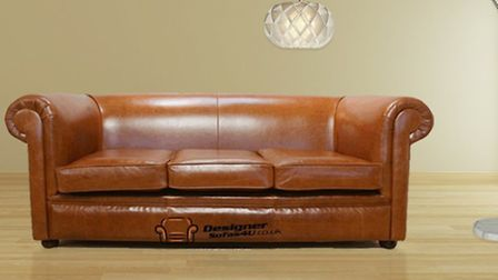 Chesterfield 1930s 3-seater settee