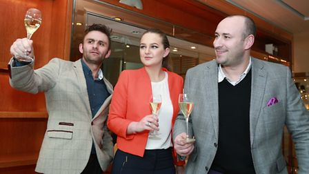 Russell Wetson, Amy Uttley and Adam Munday of Innside, Manchester