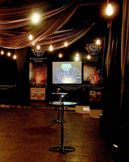 The room at the Royal Agricultural University that was decorated by Oasis Events