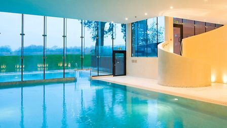 Indoor and outdoor swimming pool