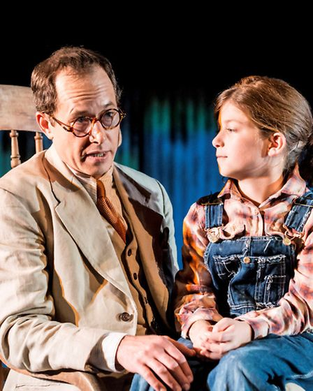 Daniel Betts as Atticus Finch and Jemima Bennett as Scout / Credit: Johan Persson [www.perssonphotog