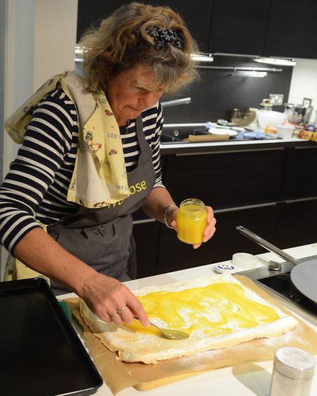 Sue Stoneman hard at work in the kitchen