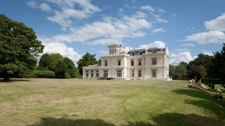Rear of the manor