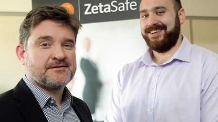 Rob Nicoll, CEO of Zeta Compliance (left) with Tom Hanney, manager of Cherwell Innovation Centre / P
